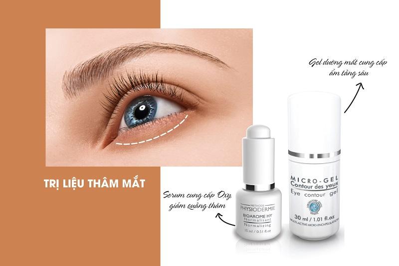 Bộ đôi trị liệu thâm mắt: Bioarome HY + Eye Contour Gel