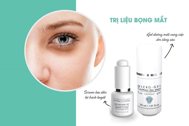 Bộ đôi trị bọng mắt: Bioarome VD + Eye contour gel